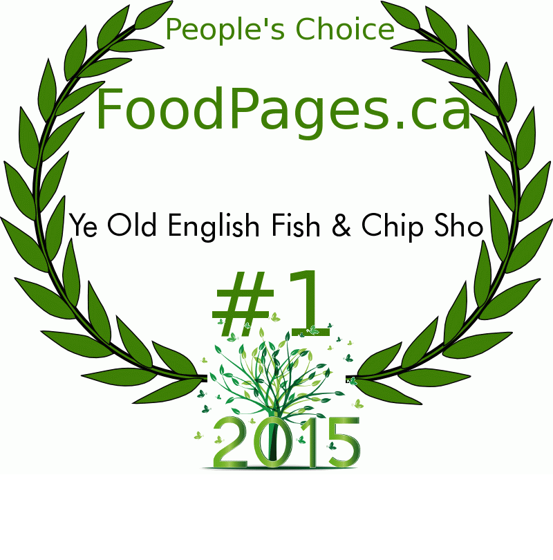 Ye Old English Fish & Chip Sho FoodPages.ca 2015 Award Winner